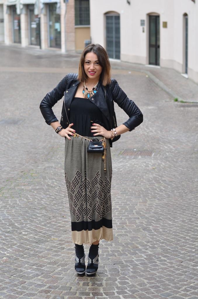 acquista originale così economico fornire un'ampia selezione di Giacca di pelle con abito lungo - Melissa Cabrini