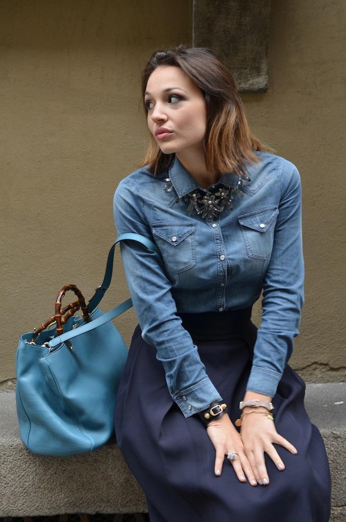 new arrival db262 90c3e Gonna a ruota e camicia di jeans - Melissa Cabrini
